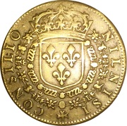 Token - Louis XIV (Council of the King) – reverse