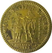Token - Louis XV and Philippe D'Orléans – reverse
