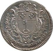 Louis XV ville d'Angers – reverse