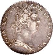 Louis XV - Académie Française - non daté – obverse