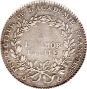 Louis XV - Académie Française - non daté – reverse