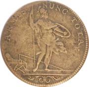 Jeton royale Louis XIV (Bâtiments du Roi) – reverse
