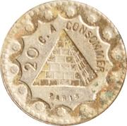 20 Centimes - Bussoz (Paris) – reverse