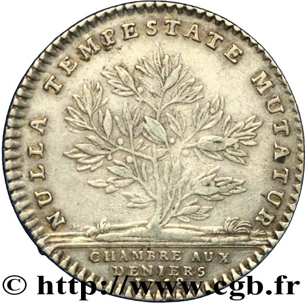 Jeton louis xv chambre aux deniers 1758 tokens numista for Chambre louis xv