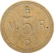 5 Cents - M. & R. – obverse