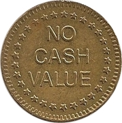 """Token - No Cash Value (Eagle looking left; """"Freedom""""; Brass; 25 mm) – reverse"""