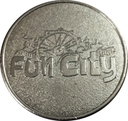 Amusement Token - Fun City (Wording on both sides) – reverse