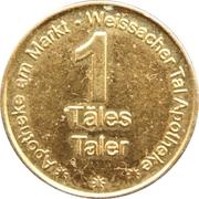 1 Täles Taler - Apotheke am Markt & Weissacher Tal Apotheke – reverse