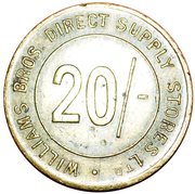 20 Shillings - Williams Bros. Direct Supply Stores Ltd – obverse