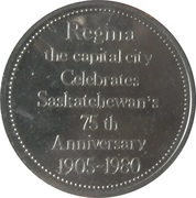Token - City Hall Regina – reverse