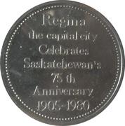 Token - City Hall Regina – reverse