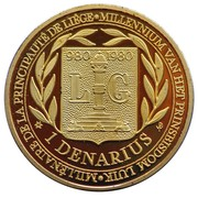 1 Denarius - Liège – reverse