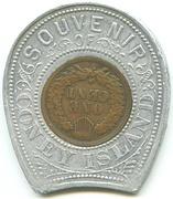 Encased Token - Souvenir of Coney Island – reverse
