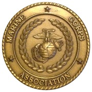 Marine Corps Association 90 Years Challenge Coin – obverse