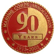 Marine Corps Association 90 Years Challenge Coin – reverse