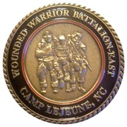 Wounded Warrior Battalion East USMC challenge coin – reverse