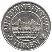 Token - Sunshine Skyway (St. Petersburg, FL) – reverse