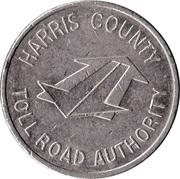 Token - Harris County Toll Road Authority – reverse