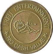 Amusement Token - Freij Entertainment (smaller inner circle, golden) – obverse