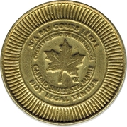 5 Cents Gaming Token - Casino Sault Ste. Marie – obverse