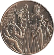 First Spouse Medal (Mary Todd Lincoln) – reverse