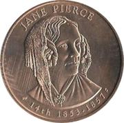 First Spouse Medal (Jane Pierce) – obverse