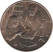 First Spouse Medal (Sarah Polk) – reverse