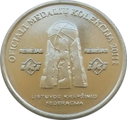 Official Lithuanian Basketball Players Medal Collection (Stepas Butautas) – reverse