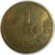 1 Peso - Miramar (Coffee harvester token) – reverse