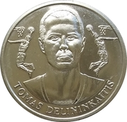 Official Lithuanian Basketball Players Medal Collection (Tomas Delininkaitis) – obverse