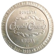 1 Dollar Gaming Token - Crystal Casino (Sonesta, Aruba) – obverse