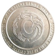 1 Dollar Gaming Token - Crystal Casino (Sonesta, Aruba) – reverse