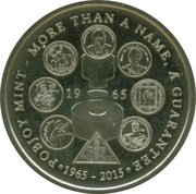 Token - Pobjoy Mint (50th anniversary) – obverse