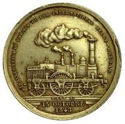 Token - Inauguration of the Belgian railway Rhine – obverse