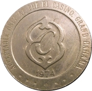 ½ Dollar Gaming Token - El Casino (Freeport, Grand Bahama Island) – reverse