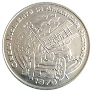 Mardi Gras Dabloon - Great Moments In American History – obverse