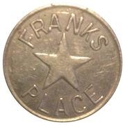 Franks Place Star Token – reverse