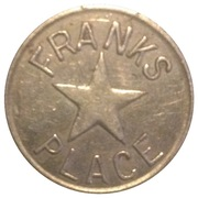 Franks Place Star Token – obverse