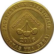 Žagarė's Cherry Festival token (Lucky coin) – reverse