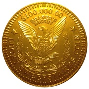 $100,000.00 Reader's Digest Lucky Sweepstakes Coin – reverse