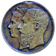 Token -  Leopold II (25 years of the reign) – obverse