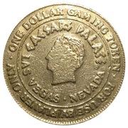 1 Dollar Gaming Token - Ceasars Palace (Las Vegas, Nevada) – obverse