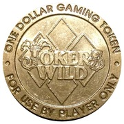 1 Dollar Gaming Token - Jokers Wild Casino – obverse