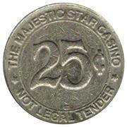 25 Cent Gaming Token - Majestic Star Casino (Gary, Indiana) – obverse