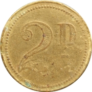 2 Pence - Clown – reverse