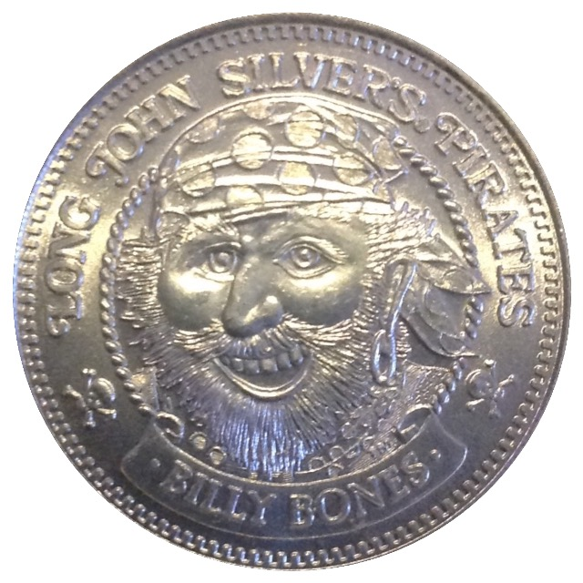 1 Long John Silvers Doubloon (Billy Bones) - * Tokens