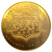 Super Bowl XXXIV Collectors Coin – reverse