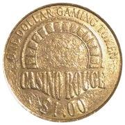 1 Dollar Gaming Token - Casino Rouge – reverse