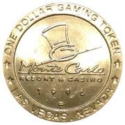1 Dollar Gaming Token - Monte Carlo Resort & Casino (Las Vegas, Nevada) – obverse