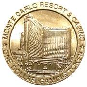 1 Dollar Gaming Token - Monte Carlo Resort & Casino (Las Vegas, Nevada) – reverse
